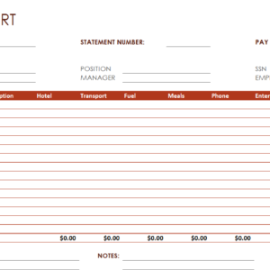 Travelling Allowance Report – Excel Word Templates