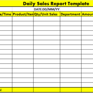 Hotel Monthly Sales Report Sample | PDF Template