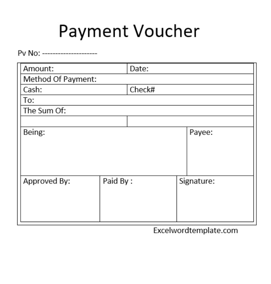 payment voucher in excel