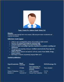 Textile Engineer Resume Template – Excel Word Templates